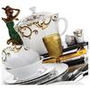 Kütahya Porselen Iris 87 Parça 4334 Desen Yemek Takımı