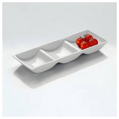 Kütahya Porselen Tavola Serisi 3 Bölmeli Kayık Tabak