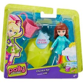 Polly Pocket Ve Arkadaşları Yağmur Eğlencesinde Lila Kız Çocuk Oyuncakları