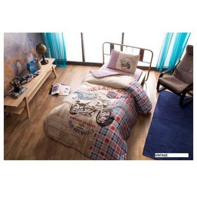 Taç Tekstil Taç Vintage Yastık Örtüsü Seti - Kırmızı Yatak Örtüleri