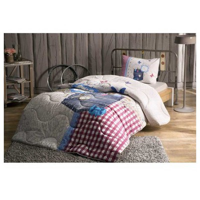 Taç Moschino Yatak Örtüsü Seti - Lacivert Yatak Örtüleri