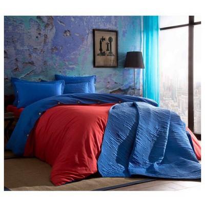 Taç Colorful Ranforce Çift Kişilik Nevresim Takımı - Kırmızı Ev Tekstili