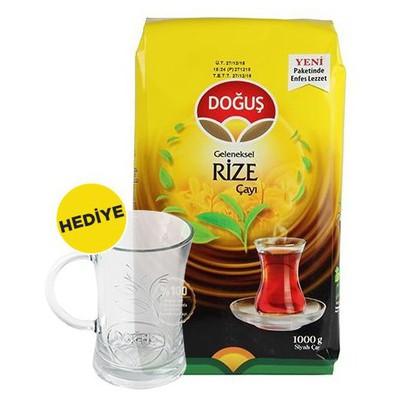 Doğuş Geleneksel Rize Çayı 1000 G Alana Kupa Bardak Hediye Dökme Çay