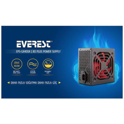 Everest Gx400a Gx400a Real-400w Peak 460w 80 Plus Bronze 12cm Fanlı Power Supply Güç Kaynağı Ünitesi