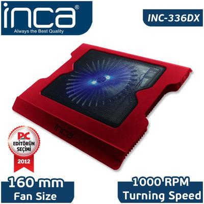 Inca Inc-336dxk Inc-336dxk Led Fanlı Hight Cool Sessiz Usb  Kırmız Notebook Soğutucu
