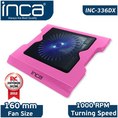Inca Inc-336dxp Inc-336dxp Led Fanlı Hight Cool Sessiz Usb  Pembe Notebook Soğutucu