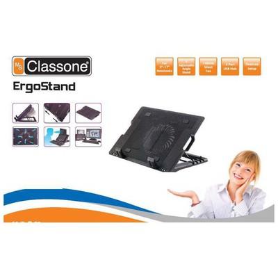 """Classone M25 5x Yükseklik Ayarlı  10-17"""" Uyumlu/siyah Notebook Soğutucu"""