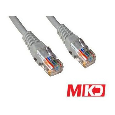 MKD MK-PT02 CAT5 2mt Utp Network Patch Kablo Gri Network Kablosu