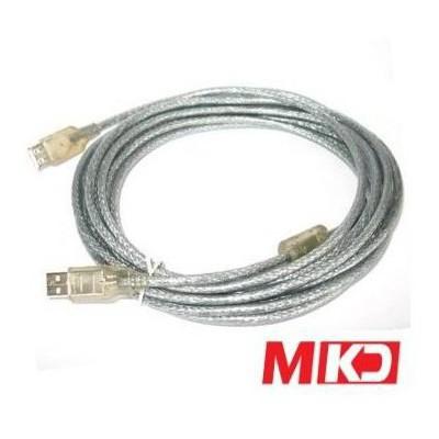 MKD MK-US03 5mt Usb 2.0 Şeffaf Printer Kablo Yazıcı Aksesuarı