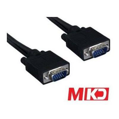 MKD Mk-vga03 Mk-vga03 15pin Vga M/m (e-e) Monitör Kablo 3 Metre Ses ve Görüntü Kabloları
