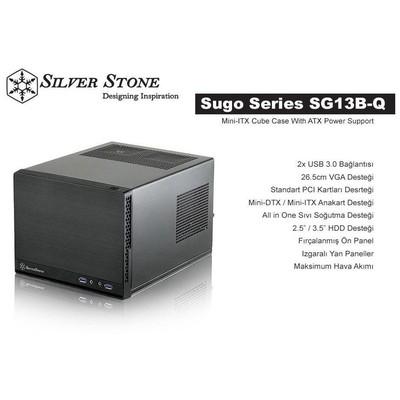 Silverstone Sugo SG13 750w mini ITX Kasa (SST-SG13B-Q750)