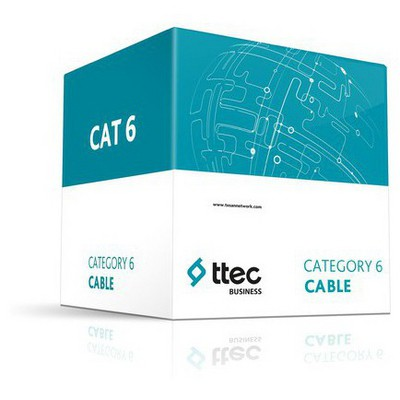 Ttec C6u23l Ttec Business Cat6 U/utp 23awg Lszh 4pr Solid Kablo 305mt Çevirici Adaptör
