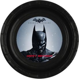 Parti Paketi Batman Tabak Sticker, 15cm 8'li Parti Tabağı