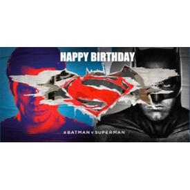 Parti Paketi Batman V Superman Kağıt Peçete Kuşağı, 20cm 16'lı Parti Peçetesi