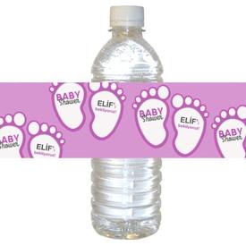 Parti Paketi Pembe Bebek Patileri Su Şişesi Etiketi, 21cm 16'lı Parti Bardağı