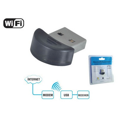 Goldmaster Nano Wı-11 Usb Wi-fi Adaptör Anten / Ağ Adaptörü