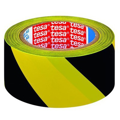 Tesa Ikaz Bandı Yer Işaretleme Çizgili 33 M X 50 Mm Paketleme Malzemesi