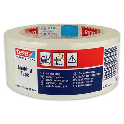 Tesa Ikaz Bandı Yer Işaretleme 33 M X 50 Mm Beyaz Paketleme Malzemesi