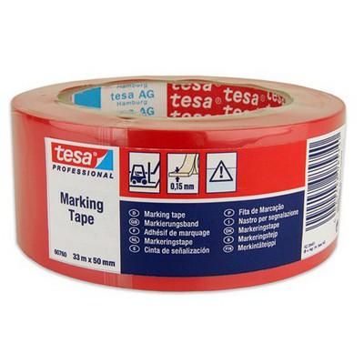 Tesa Yer Işaretleme Ikaz Bandı Kırmızı 33 M X 50 Mm Paketleme Malzemesi