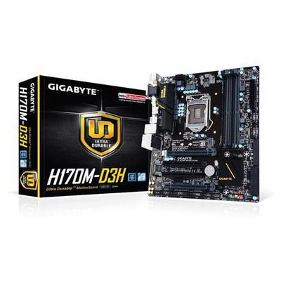 Gigabyte H170m-d3h Intel 1151pin Ddr4 Vga Dvi Hdmi Anakart