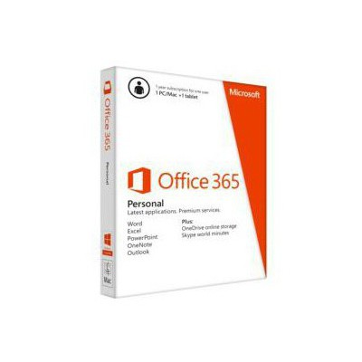 Microsoft Ms Office 365 Personal 1 Year Subscription English/medialess