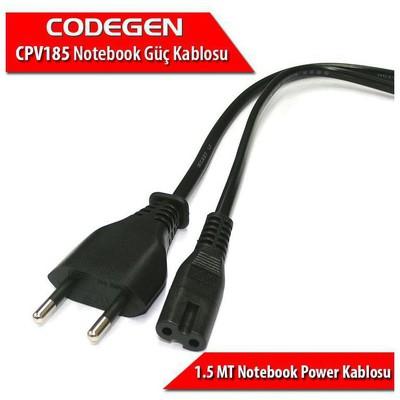 Codegen Cpv185 1.5 Metre 0.30mm Kalınlıkta 2 Uçlu Notebook Güç Power Kablosu Güç Kablosu