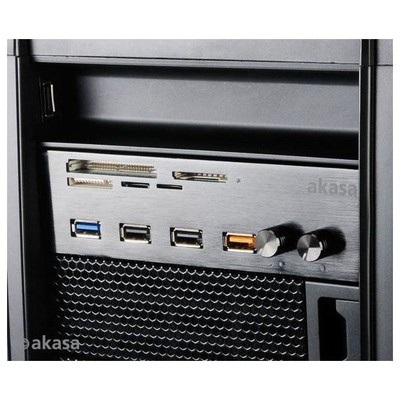 Akasa Ak-hc-08bk Interconnect Usb 3.0 / 2xfan Kontolcü/hızlı Şarj Portlu/5xkart Okuyucu Kart Okuyucu