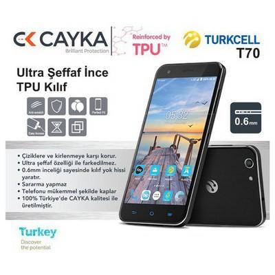 Cayka Cs-tpu-tur-t70 Turkcell T70 Tpu Şeffaf Kılıf Cep Telefonu Kılıfı