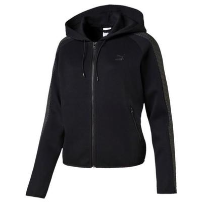 Puma 53586 572004-01 Gold T7 Fullzip Hoody Black Sweat 572004-01