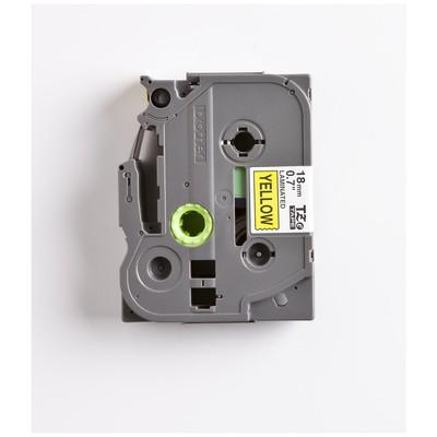 Brother P-touch Tze-641 Tze-tape 18 Mm Sarı Üzerine Siyah Laminasyonlu Etiket