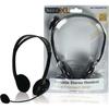 BasicXL Bxl-headset1bl Multimedya Mikrofonlu Stereo Kulaklık Siyah Kafa Bantlı Kulaklık
