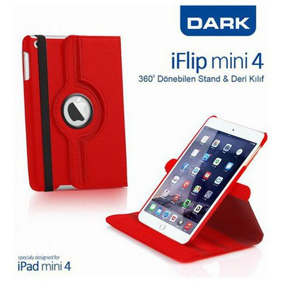 Dark Dk-ac-ıpm4krtrd Iflip Ipad Mini4 360 Dönebilen Kırmızı Kılıf Tablet Kılıfı