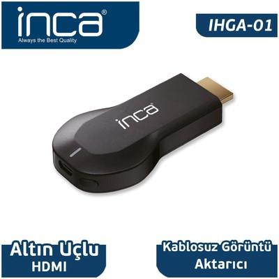 Inca Ihga-01 Ihga-01ınca Kablosuz Altın Uçlu Hdmı Görüntü + Ses Aktarıcı Adaptör / Dönüştürücü
