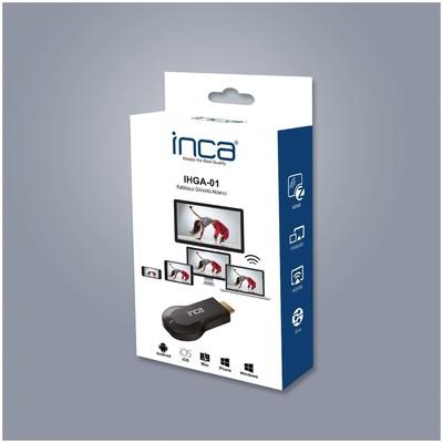Inca Ihga-01 Ihga-01ınca Kablosuz Altın Uçlu Hdmı Görüntü + Ses Aktarıcı Ses ve Görüntü Kabloları