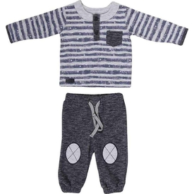 Bibaby 59305 Skı Sport Bebek Iki Iplik 2 Li Takım Indigo 6-9 Ay (68-74 Cm) Erkek Bebek Takım