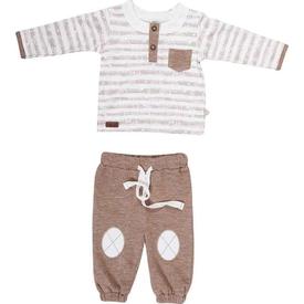 Bibaby 59305 Skı Sport Bebek Iki Iplik 2 Li Takım Kahverengi 6-9 Ay (68-74 Cm) Erkek Bebek Takım
