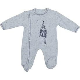 Bibaby 60168 London Bebek Yandan Çıtçıtlı Tulum Mavi 6-9 Ay (68-74 Cm) Bebek Tulumu