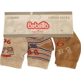 Bebetto S126 Bebe 3lü Çorap Forest 0-3 Ay Bej 0-3 Ay (56-62 Cm) Erkek Bebek Çamaşırı