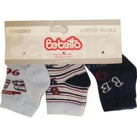 Bebetto S126 Bebe 3lü Çorap Forest 0-3 Ay Lacivert 0-3 Ay (56-62 Cm) Erkek Bebek Çamaşırı