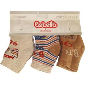 Bebetto S138 Bebe Havlu 3lü Çorap 0-3 Ay Bej 0-3 Ay (56-62 Cm) Kız Bebek Çamaşırı
