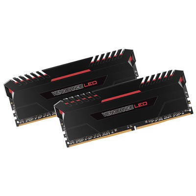 Corsair Vengeance LED Red 2x8GB Bellek - CMU16GX4M2C3000C15R