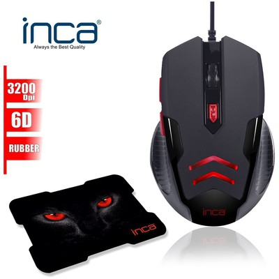 Inca Img-359 Img-359 3200 Dpi 6d Usb Gaming + pad Mouse