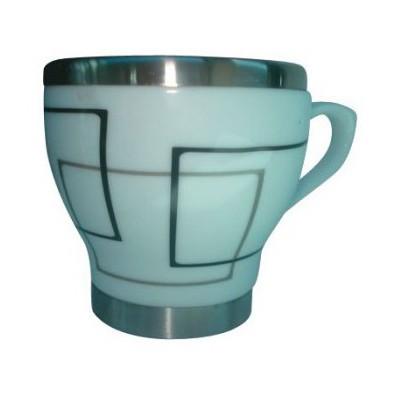 Andoutdoor Içi Çelik Dışı Desenli Seramik Kupa Mug And362 And362 Bardak & Kupa