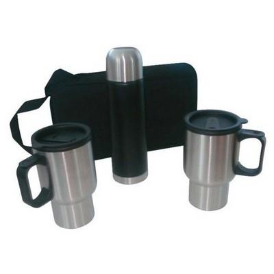 Andoutdoor Çantalı Mug Kamp Seti (2 Kupa Mug+0.50 Lt ) And204 Termos