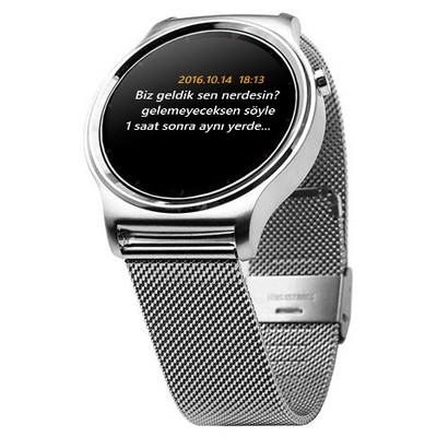 Dark Dk-ac-sw08s Dark SW08 Smart Watch IOS ve Android Uyumlu Silver Akıllı Saat (Gümüş Metal Kayış) Giyilebilir Teknoloji