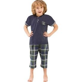 Roly Poly 2430 Erkek Çocuk Kapri Pijama Takımı Lacivert 1 Yaş (86 Cm) Erkek Bebek Pijaması