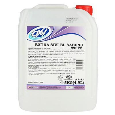 OXY Extra Sıvı El Sabunu Hindistan Cevizi Kokusu 5 Kg Kova ve Temizlik Setleri