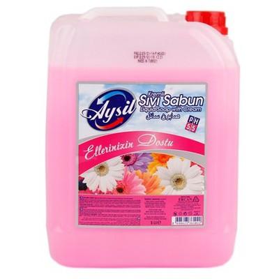 Aysil Sıvı Sabun Pembe 5 L Kova ve Temizlik Setleri