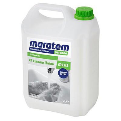 Maratem 101 Sıvı El Sabunu Beyaz Sedefli 5 Kg