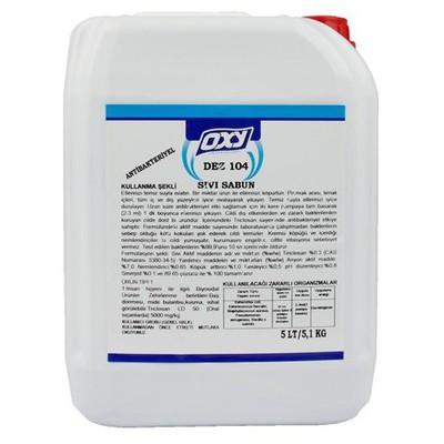 OXY Dez-104 Antibakteriyel Sıvı El Sabunu 5 Lt Kova ve Temizlik Setleri